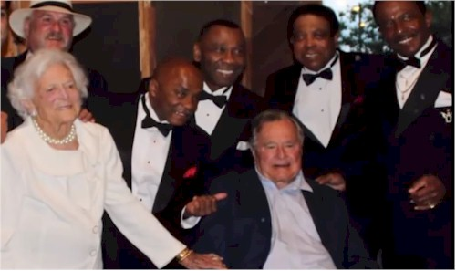 President George Herbert Walker Bush with The Drifters