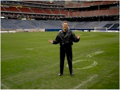 Mark Sonder on the field at NRG Stadium, Houston, Texas